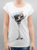 Merchcode T-skjorter Ladies MTV Cocktail hvit