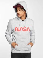 Mister Tee Hoodie NASA Worm Logo grey