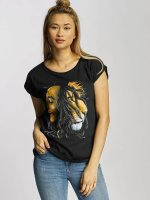 Mister Tee T-paidat Ladies Bob Marley Lion Face musta