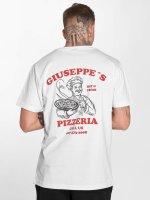 Mister Tee T-paidat Giuseppes Pizzeria valkoinen