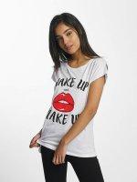 Mister Tee T-Shirt Wake Up blanc