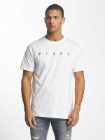 Mister Tee T-Shirt PEACE blanc