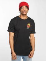 Mister Tee T-Shirt Burning Rose schwarz