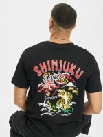 Mister Tee T-Shirt Shinjuku schwarz
