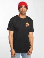 Mister Tee t-shirt Burning Rose zwart