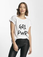 Mister Tee T-Shirty GRL PWR bialy