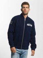 New Era Bomberjacke Melton Seattle Seahawks blau