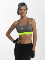 Nike Performance Športová podprsenka Classic Strappy Sports šedá