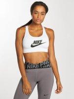 Nike Performance Reggiseno sportivo Swoosh Futura bianco