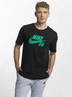 Nike SB t-shirt Logo zwart