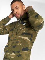 Nike Zip Hoodie Sportswear Club Camo kamuflasje