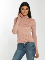 Noisy May T-Shirt manches longues nmSahra Roll Neck rose