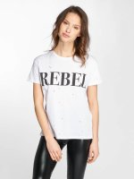 Noisy May T-Shirty nmCommand Rebel bialy