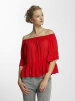 Only Blouse onlBingo Off Shoulder Peplum rood