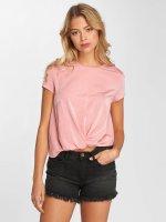 Only Camiseta onlGemma Knot rosa