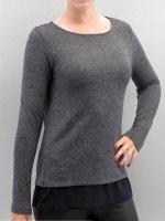 Only T-Shirt manches longues onlRea gris