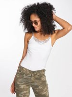 Only Tops onlKira Lace Singlet bialy