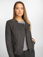 Only Veste & Blouson en cuir onlAva Faux Leather Biker noir