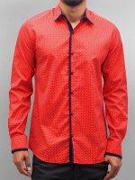 Open Рубашка Dots красный
