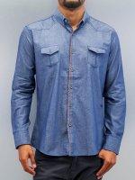 Open Рубашка Breast Pocket синий