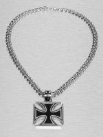 Paris Jewelry Necklace Cross silver colored