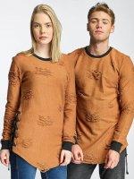 Paris Premium Swetry Destroyed brazowy