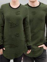 Paris Premium Swetry Used oliwkowy
