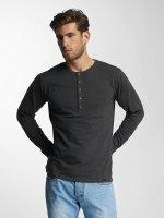 Paris Premium T-Shirt manches longues Basic Longsleeve gris