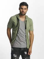 Paris Premium T-Shirty Zip khaki