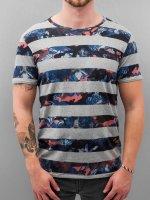 Petrol Industries T-Shirt Stripes grau