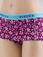 Pieces Spodná bielizeň pcLogo fialová