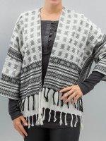 Pieces Swetry rozpinane pcBisla Poncho szary