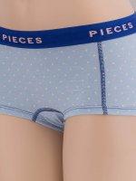 Pieces Unterwäsche pcLogo blau