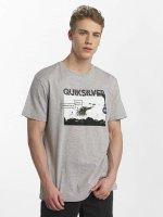 Quiksilver T-Shirt Classic Black Horizon gris
