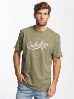 Quiksilver t-shirt Classic Sea Tales olijfgroen