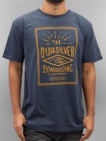 Quiksilver T-Shirty Double Lines Heather niebieski