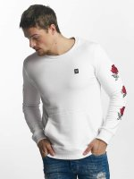 Red Bridge Pullover Red Rose Flower white