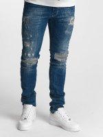 Red Bridge Slim Fit Jeans Inside Out Destroyed blå