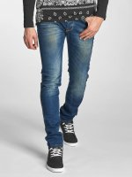 Red Bridge Slim Fit Jeans Washed blauw