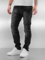 Red Bridge Slim Fit Jeans Quilted svart