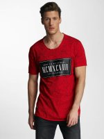 Red Bridge T-shirt Born To Be Famous rosso