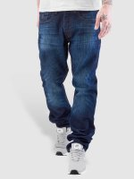 Rocawear Straight fit jeans Leather Patch Relaxed blauw