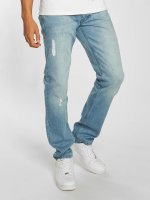 Rocawear Straight Fit Jeans Moletro Leather Patch blue