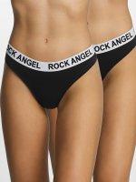 Rock Angel Alusasut Double Pack Logo musta