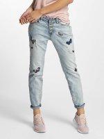Rock Angel Loose Fit Jeans Rosie Badges blau