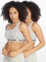 Rock Angel Soutiens-gorge de sport Double Pack Logo gris