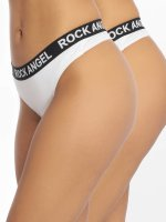 Rock Angel Underwear Double Pack Logo white