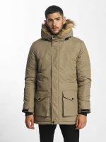 SHINE Original Kabáty Taslan Parka béžová