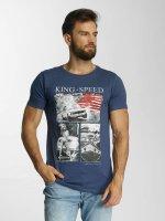 SHINE Original T-Shirt Salvatore Photo Printed bleu