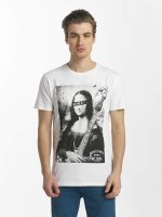 SHINE Original T-Shirt Collin Denim Rebel Print white